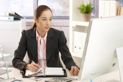 businesswoman work Arkivbild