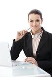 Businesswoman at work royalty free stock photos