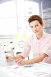 Businesswoman at work Stock Images