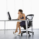 Businesswoman at work. Royalty Free Stock Photography