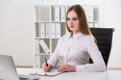 Businesswoman at work Royalty Free Stock Image