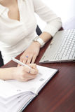 Businesswoman at work,detail Stock Images