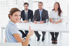Businesswoman in a work interview Stock Photo