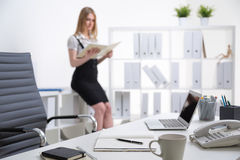 Businesswoman at work Stock Photo