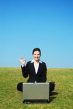Businesswoman at work outdoors Royalty Free Stock Photo