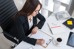 Businesswoman at work Stock Photography