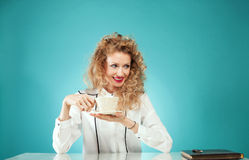Businesswoman at work. Royalty Free Stock Image