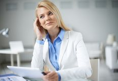 Businesswoman at work Royalty Free Stock Images