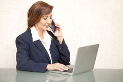 Businesswoman Working Royalty Free Stock Photos