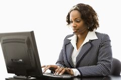 Businesswoman working. Stock Image