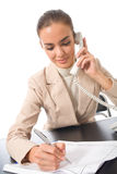 Businesswoman working Stock Photography