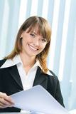 Businesswoman working Royalty Free Stock Photos