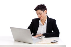 Businesswoman working Royalty Free Stock Photo