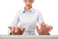 Businesswoman working Stock Photo