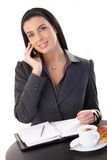 Businesswoman working at coffee break Royalty Free Stock Photography