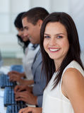 Businesswoman working in a company Royalty Free Stock Photography