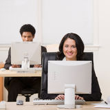 Businesswoman working on computer Royalty Free Stock Photos