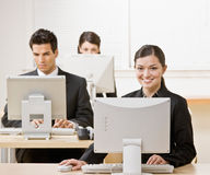 Businesswoman working on computer Stock Photography