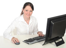 Businesswoman Working at the Computer Stock Photography