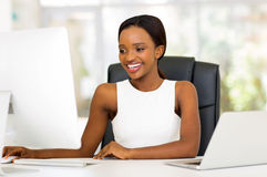 Businesswoman working computer Stock Photography