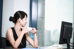 Businesswoman working with computer in office Royalty Free Stock Photography