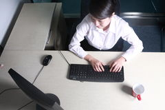 Businesswoman working with computer in office Royalty Free Stock Images