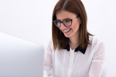 Businesswoman working on the computer at office Royalty Free Stock Images