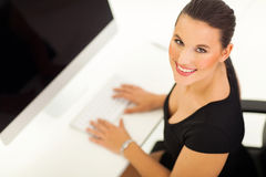 Businesswoman working computer Stock Photos
