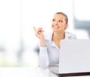 Businesswoman working at desk Royalty Free Stock Photo