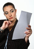 Businesswoman working with document Stock Photos