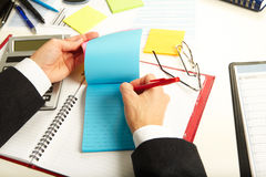 Businesswoman working with documents Royalty Free Stock Image