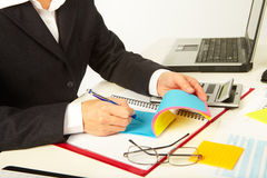 Businesswoman working with documents Royalty Free Stock Photos
