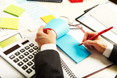 Businesswoman working with documents Stock Photo