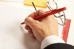Businesswoman working with documents Stock Image