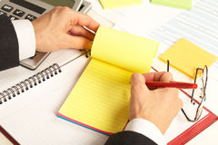 Businesswoman working with documents Royalty Free Stock Photo