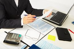 Businesswoman working with documents Royalty Free Stock Images
