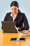 Businesswoman working on her laptop Stock Photography