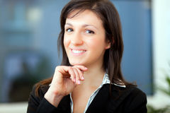 Businesswoman working in her office Royalty Free Stock Photos