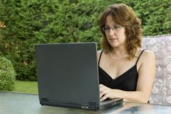 Businesswoman working from home Stock Photography