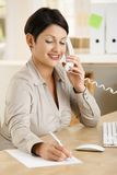 Businesswoman working at home Royalty Free Stock Photo