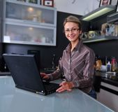 Businesswoman working at home Stock Photography