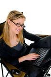 Businesswoman working home Stock Photo