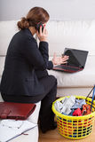 Businesswoman working at home Royalty Free Stock Images