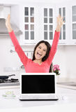 Businesswoman working at home Stock Photo