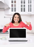 Businesswoman working at home Stock Photos