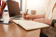 Businesswoman working at home office Stock Photography