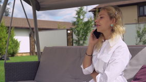 Businesswoman working at home. stock footage