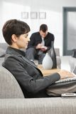 Businesswoman working with laptop Royalty Free Stock Images