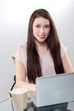 Businesswoman working on a laptop Stock Photos