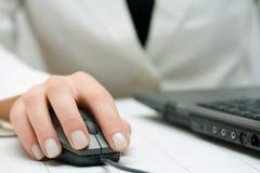 Businesswoman working on laptop Stock Photos